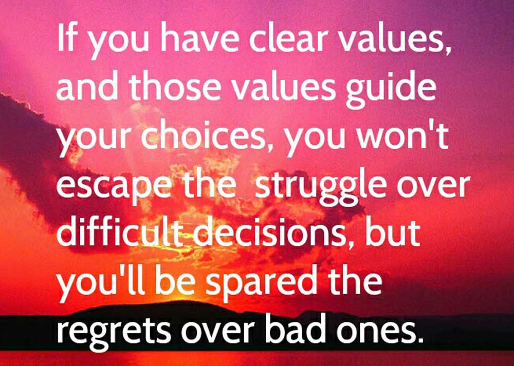 Values Guide Decisions